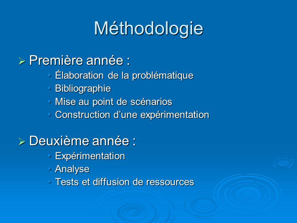 Méthodologie Première année : Deuxième année :