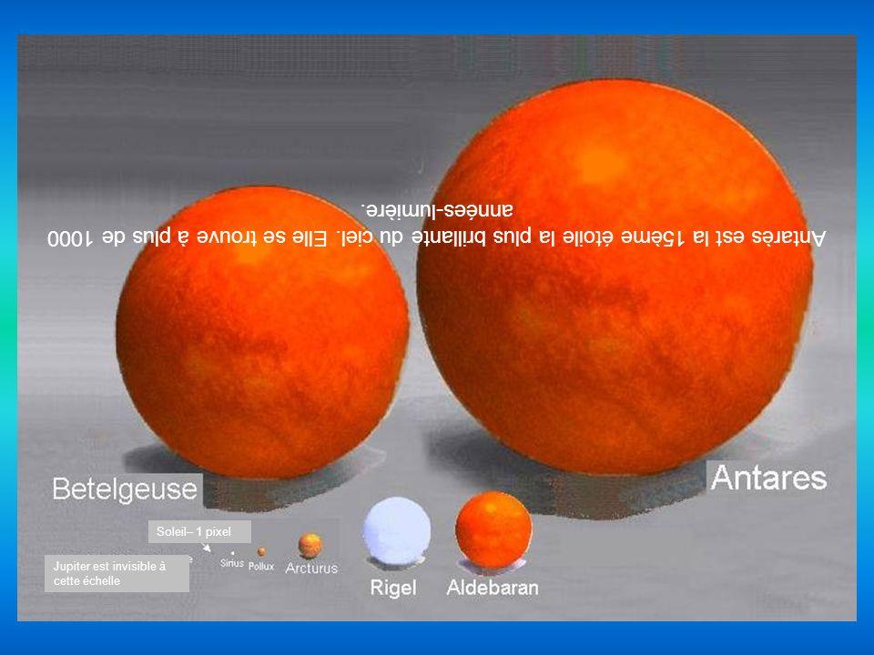 Antarès est la 15ème étoile la plus brillante du ciel