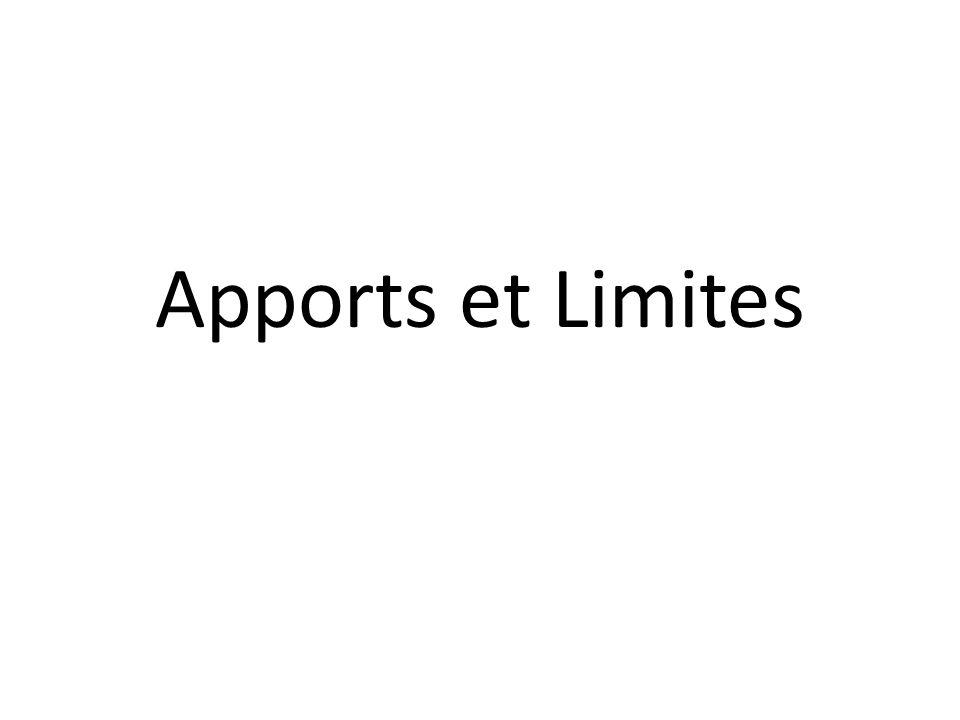 Apports et Limites