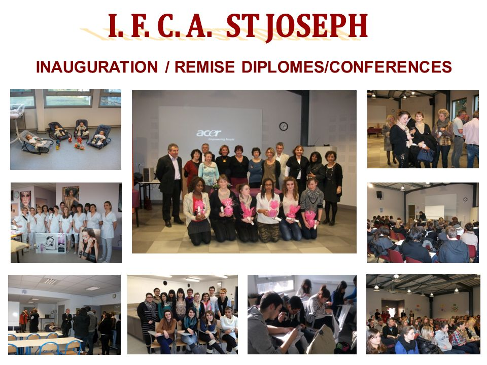 INAUGURATION / REMISE DIPLOMES/CONFERENCES