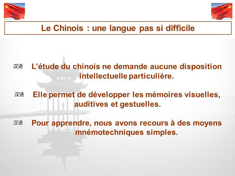 Le Chinois : une langue pas si difficile