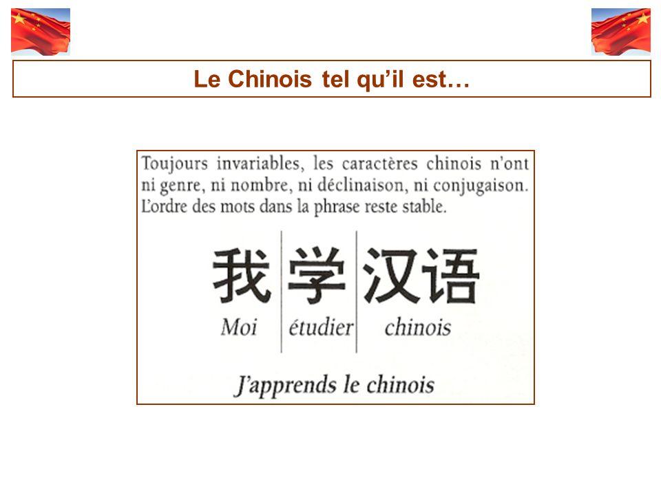 Le Chinois tel qu'il est…