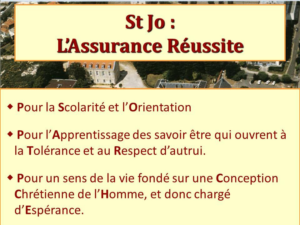 St Jo : L'Assurance Réussite