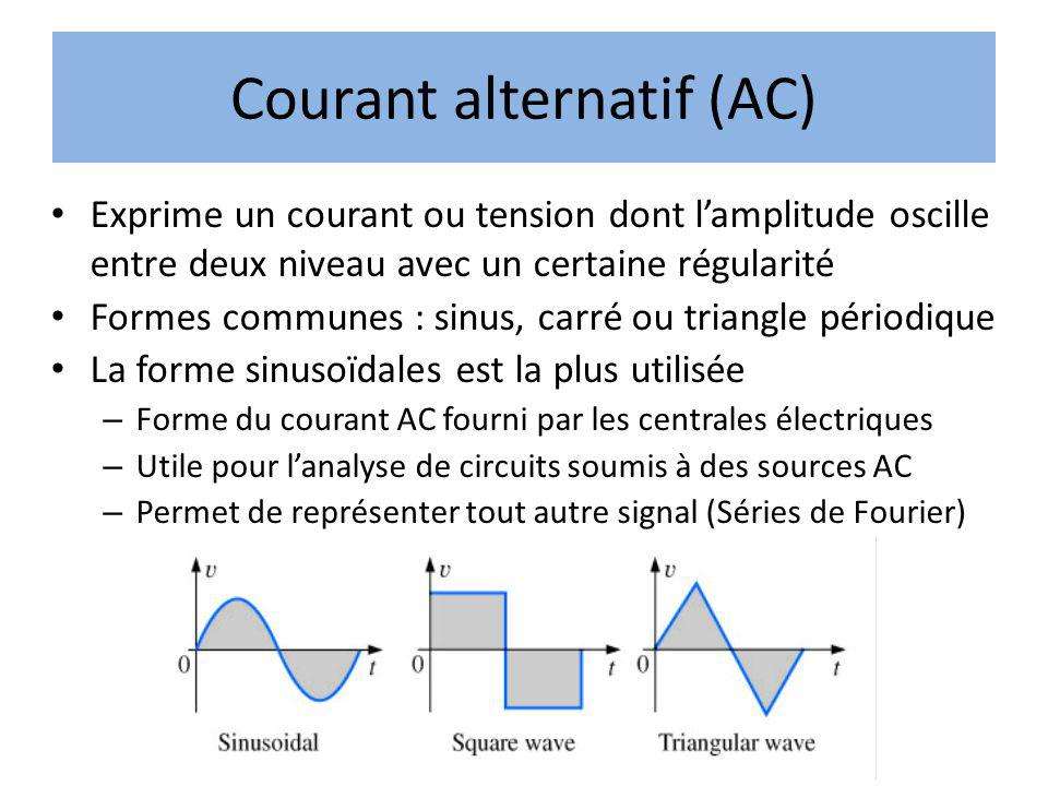 Courant alternatif (AC)
