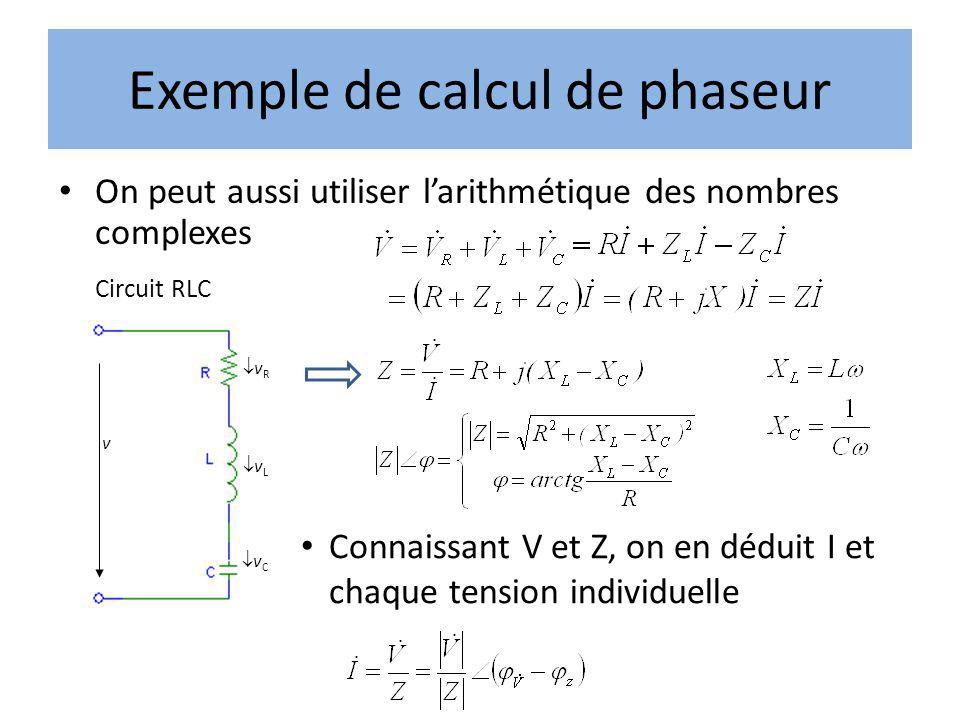 Exemple de calcul de phaseur
