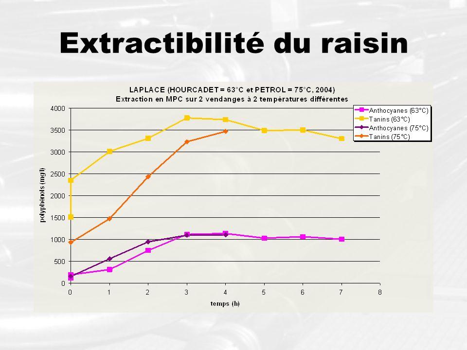 Extractibilité du raisin