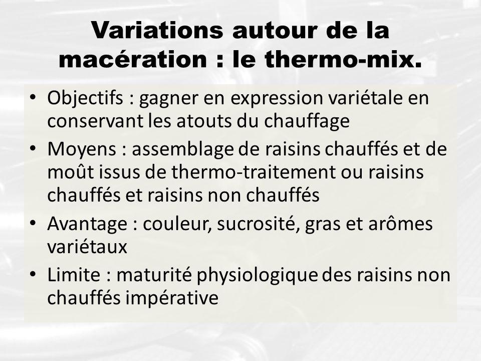 Variations autour de la macération : le thermo-mix.