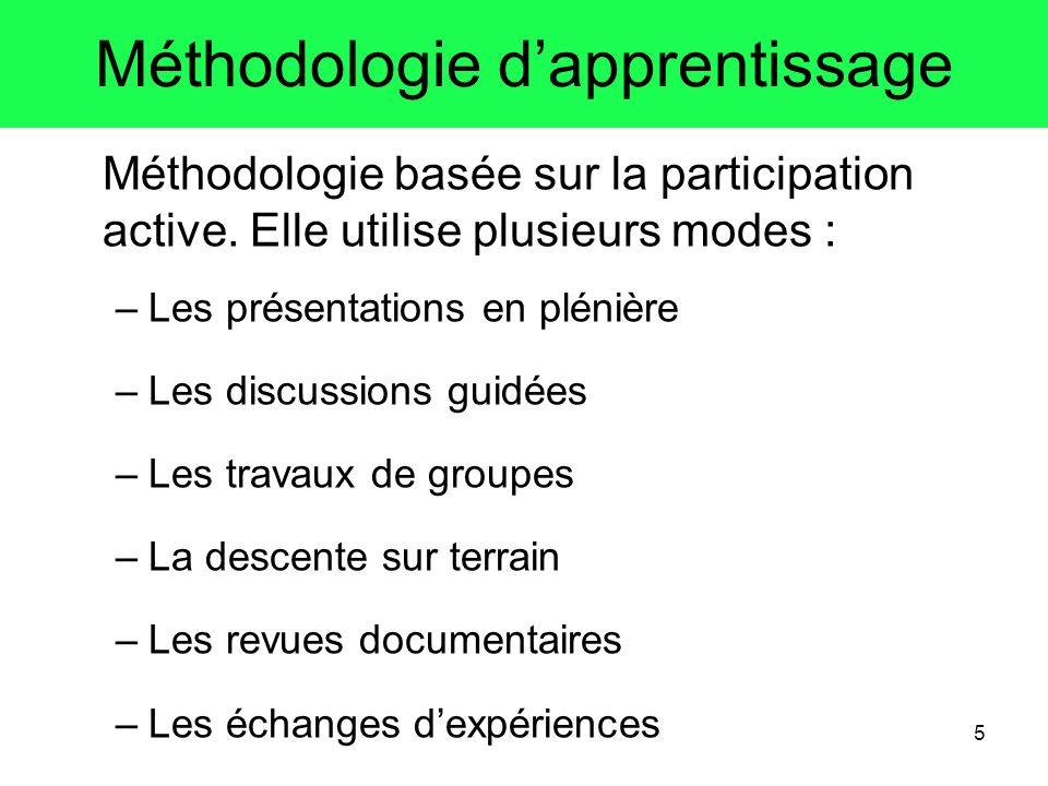 Méthodologie d'apprentissage