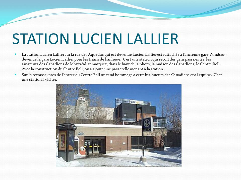 STATION LUCIEN LALLIER