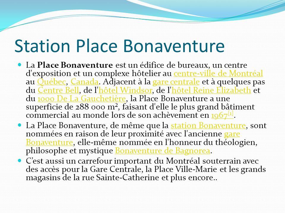 Station Place Bonaventure