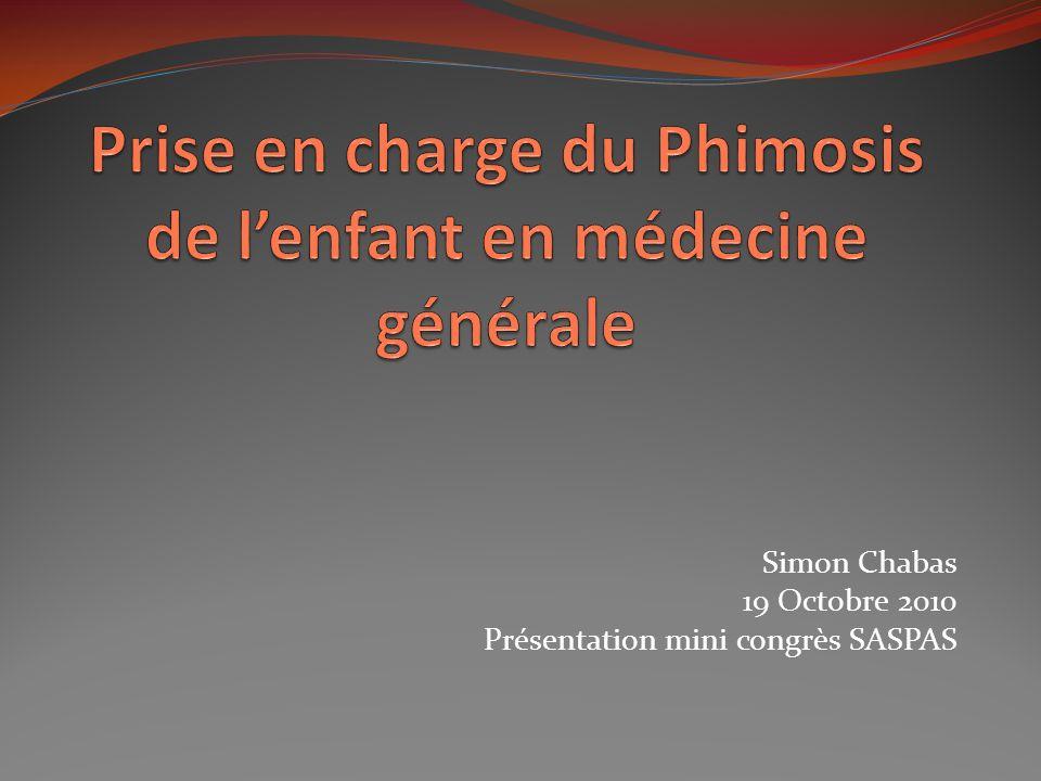 Prise en charge du Phimosis de l'enfant en médecine générale