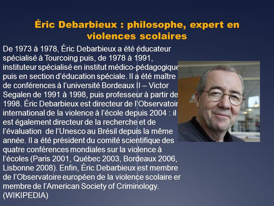 Éric Debarbieux : philosophe, expert en violences scolaires
