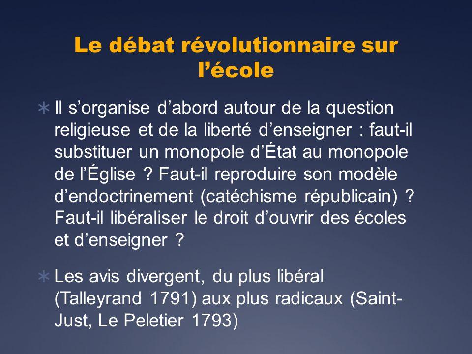 Le débat révolutionnaire sur l'école