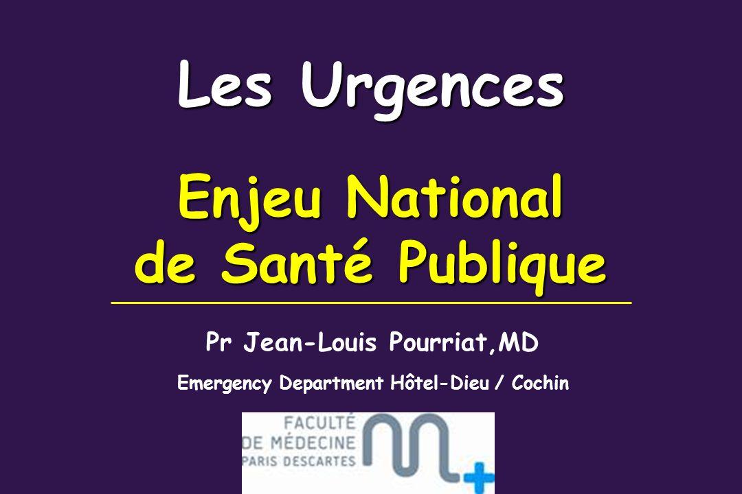 Les Urgences Enjeu National de Santé Publique