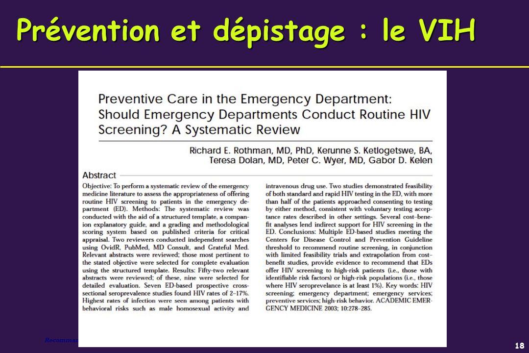 Prévention et dépistage : le VIH