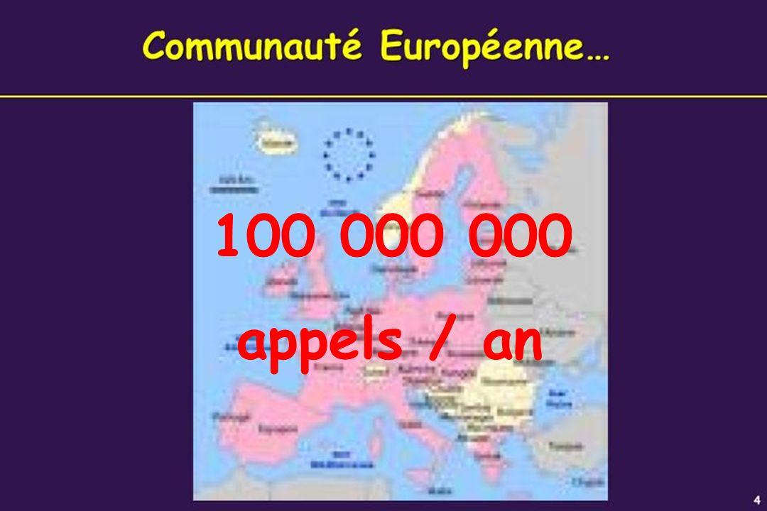 100 000 000 appels / an