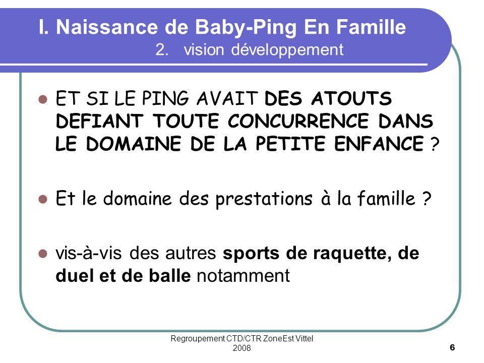 I. Naissance de Baby-Ping En Famille 2. vision développement
