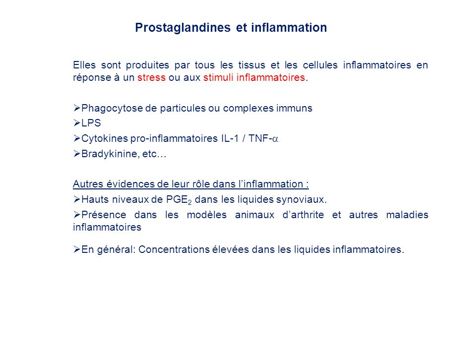 Prostaglandines et inflammation