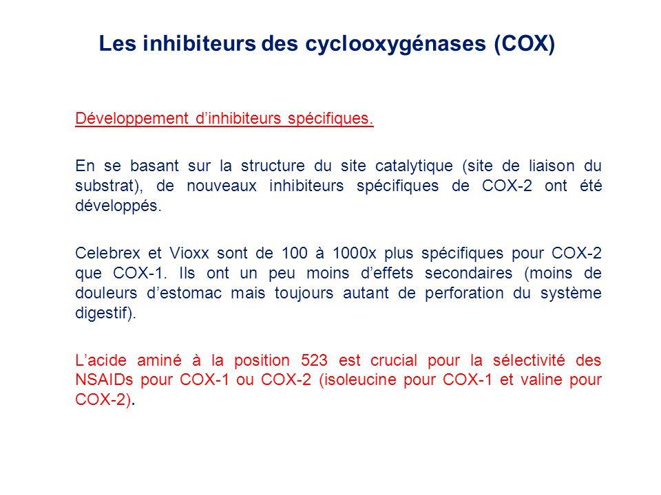 Les inhibiteurs des cyclooxygénases (COX)