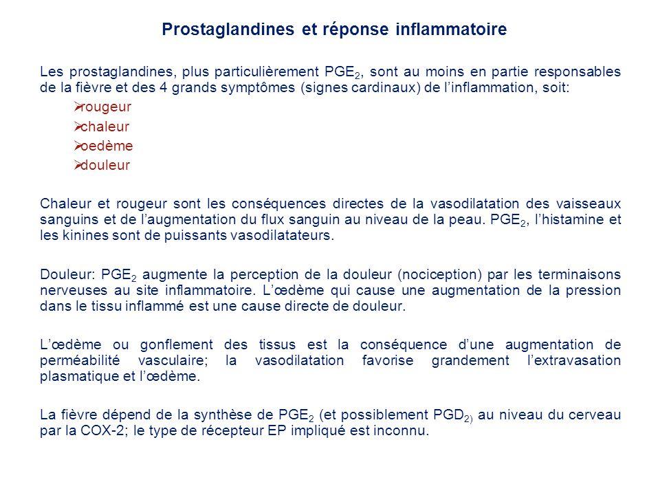 Prostaglandines et réponse inflammatoire