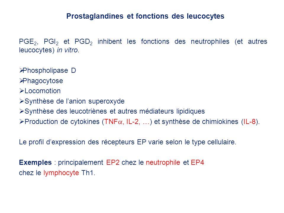 Prostaglandines et fonctions des leucocytes
