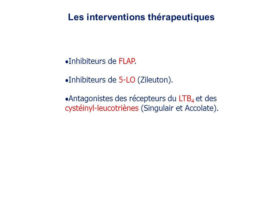 Les interventions thérapeutiques