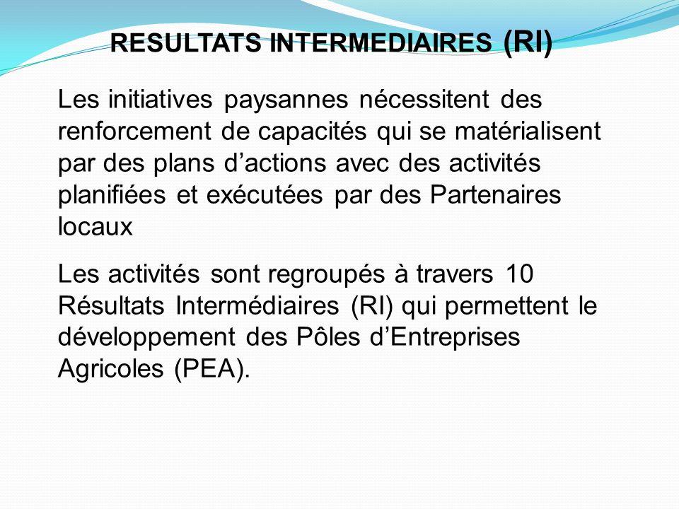 RESULTATS INTERMEDIAIRES (RI)