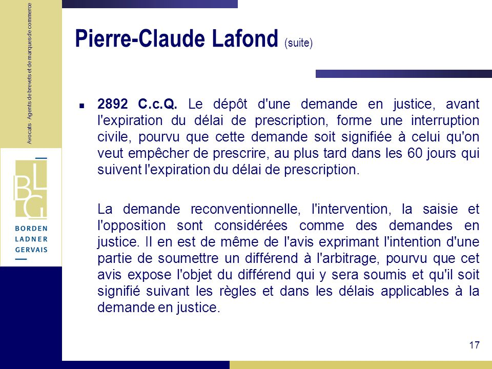 Pierre-Claude Lafond (suite)