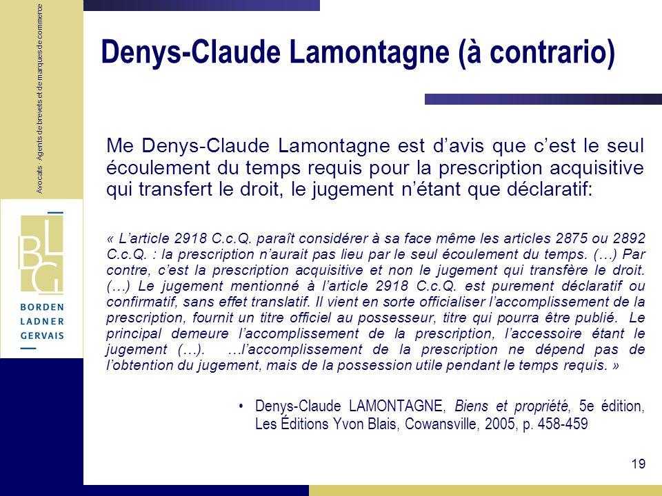 Denys-Claude Lamontagne (à contrario)