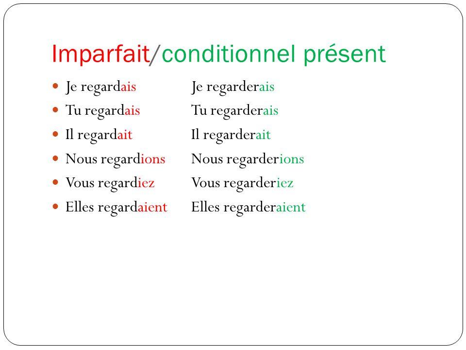 Imparfait/conditionnel présent