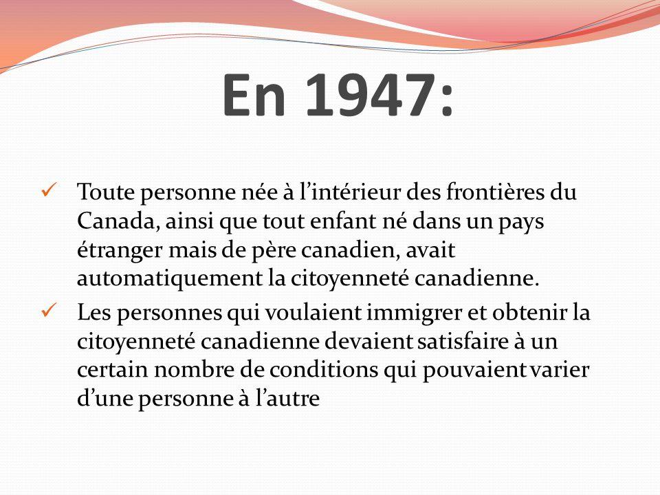 En 1947: