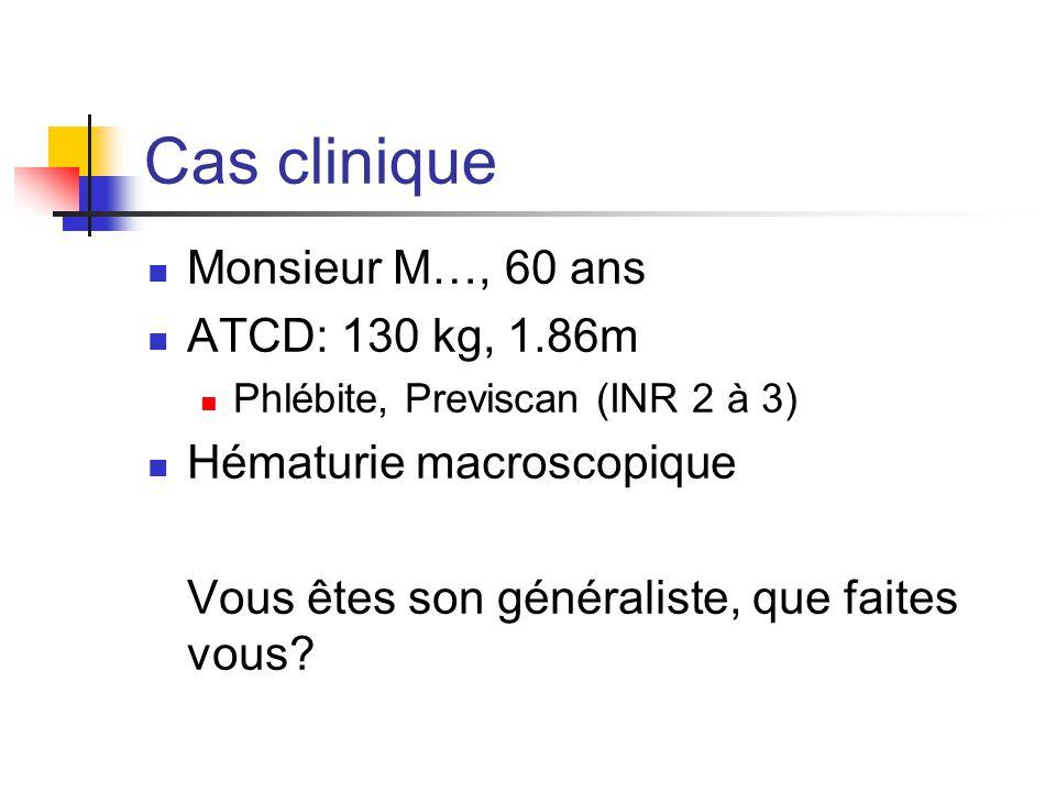 Cas clinique Monsieur M…, 60 ans ATCD: 130 kg, 1.86m