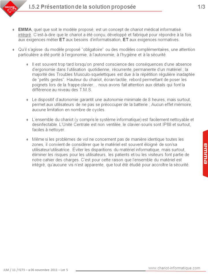 I.5.2 Présentation de la solution proposée 1/3