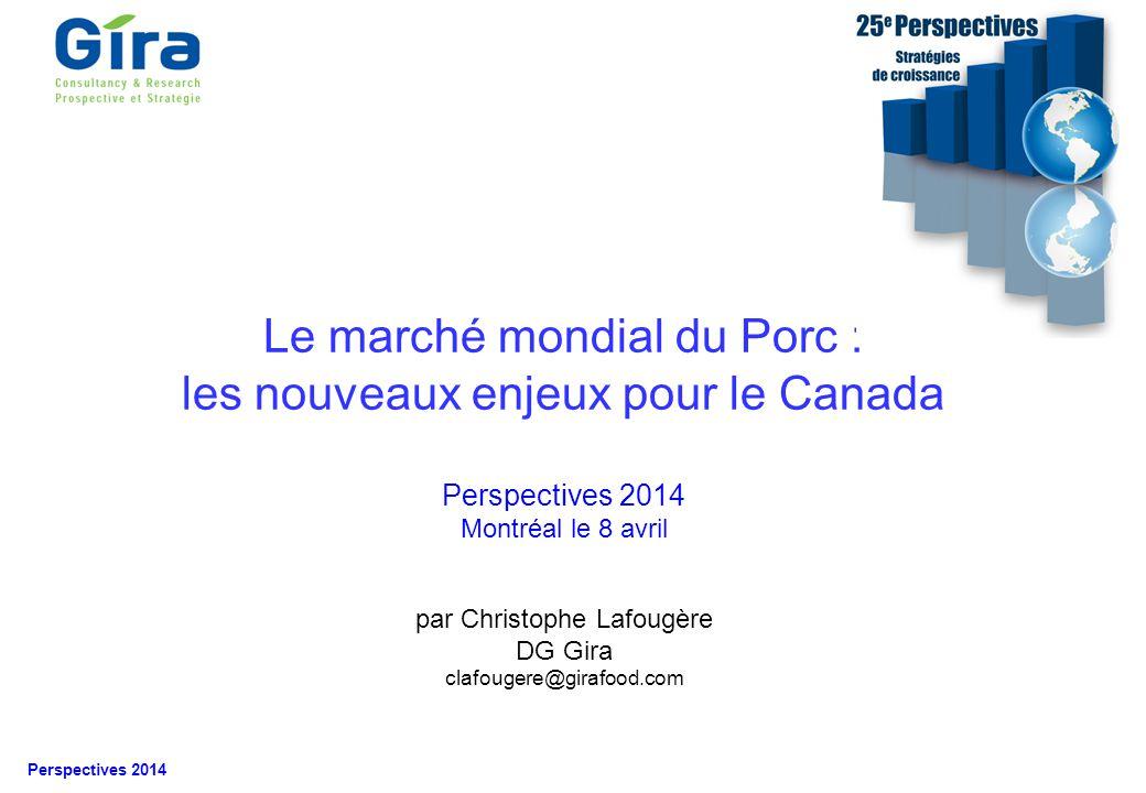 Le marché mondial du Porc : les nouveaux enjeux pour le Canada
