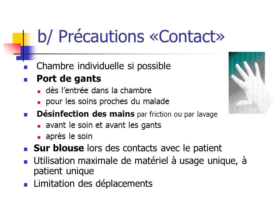 b/ Précautions «Contact»