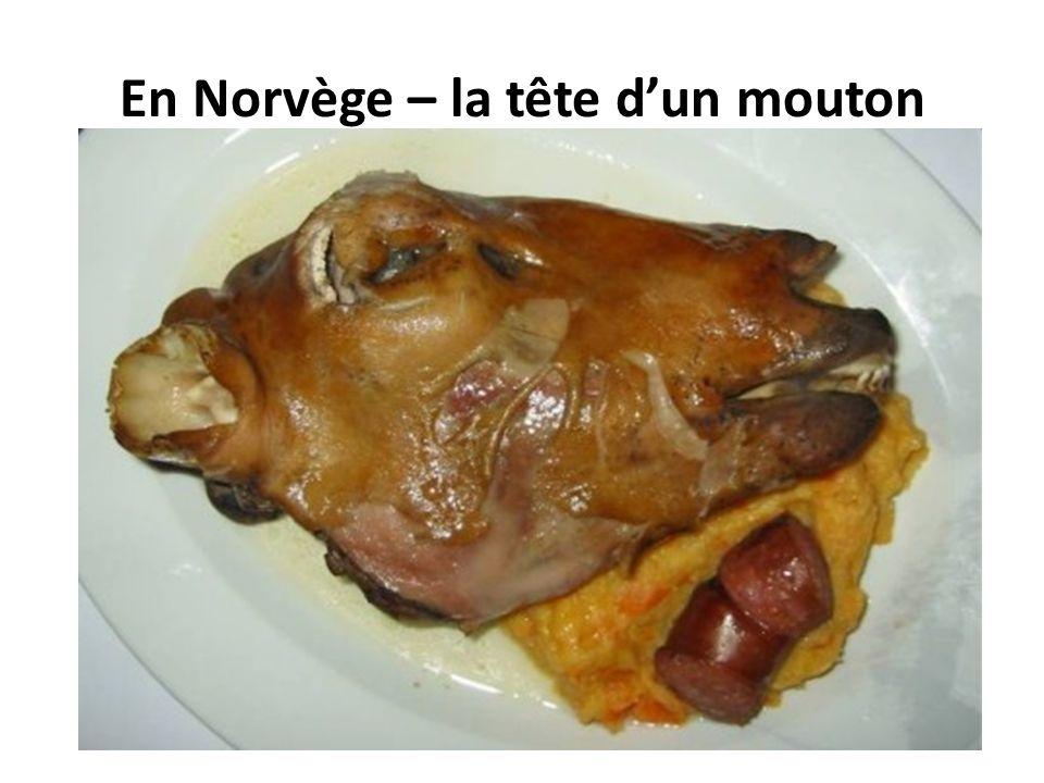 En Norvège – la tête d'un mouton