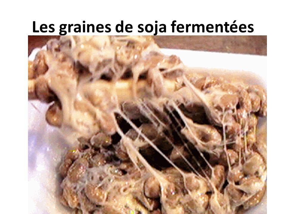 Les graines de soja fermentées