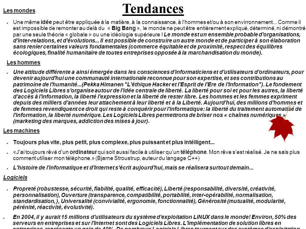 Tendances Les mondes.