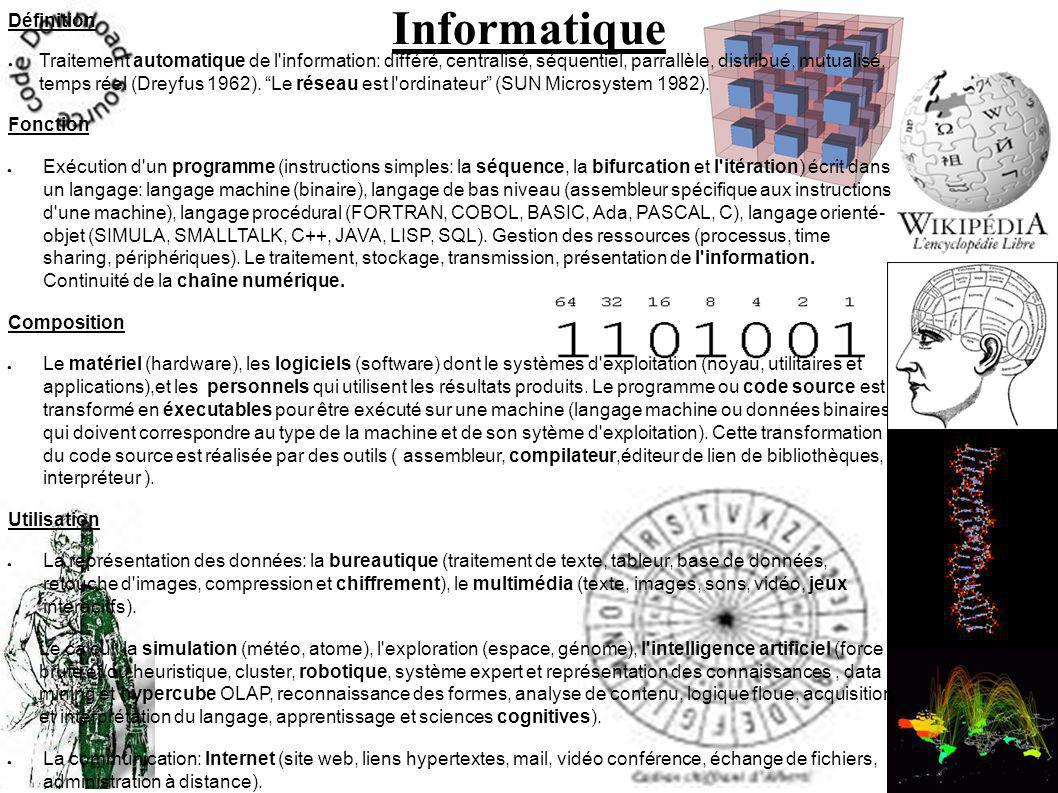 Informatique Définition