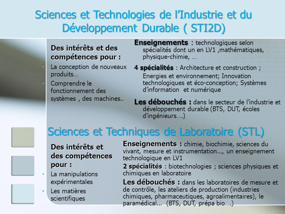 Sciences et Techniques de Laboratoire (STL)