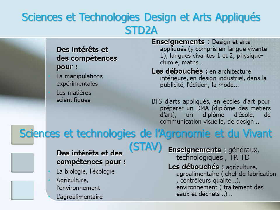 Sciences et Technologies Design et Arts Appliqués STD2A