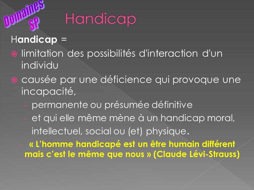 Handicap Domaines SP Handicap =