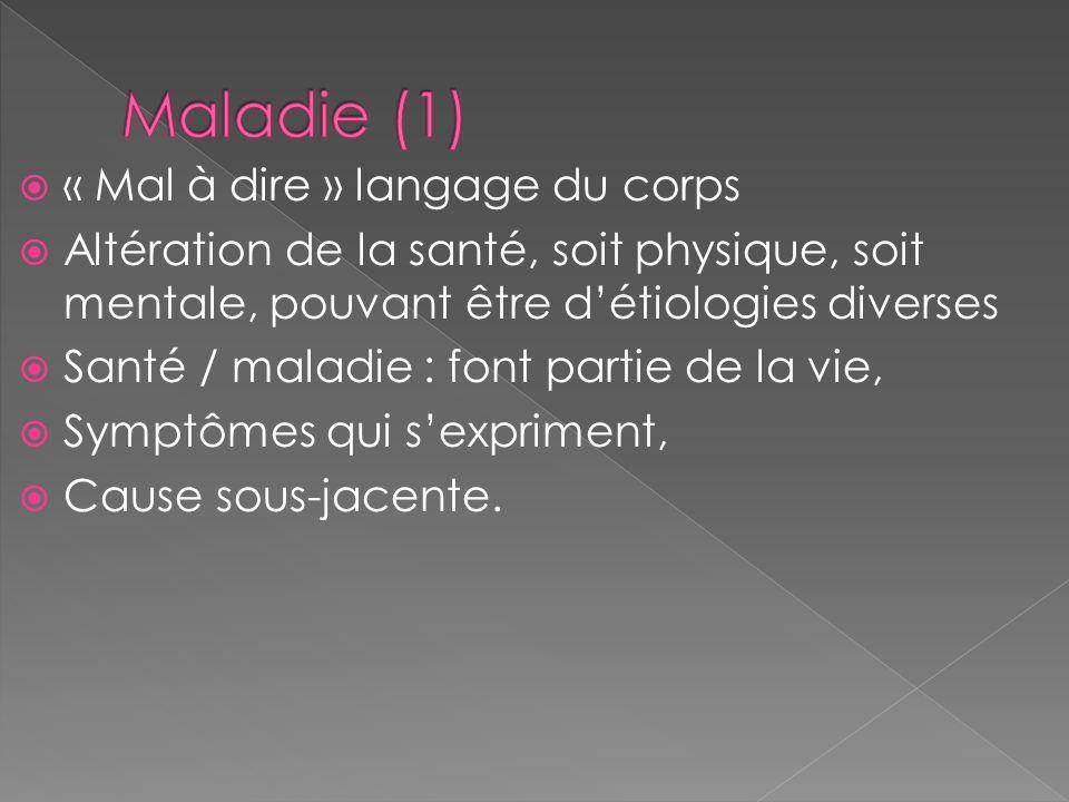 Maladie (1) « Mal à dire » langage du corps