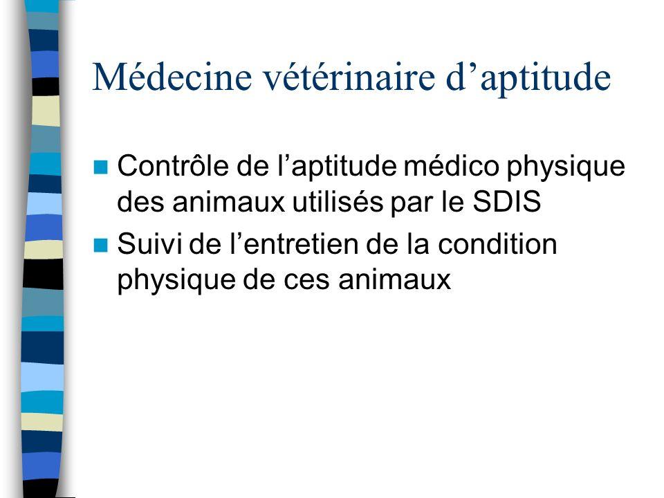 Médecine vétérinaire d'aptitude