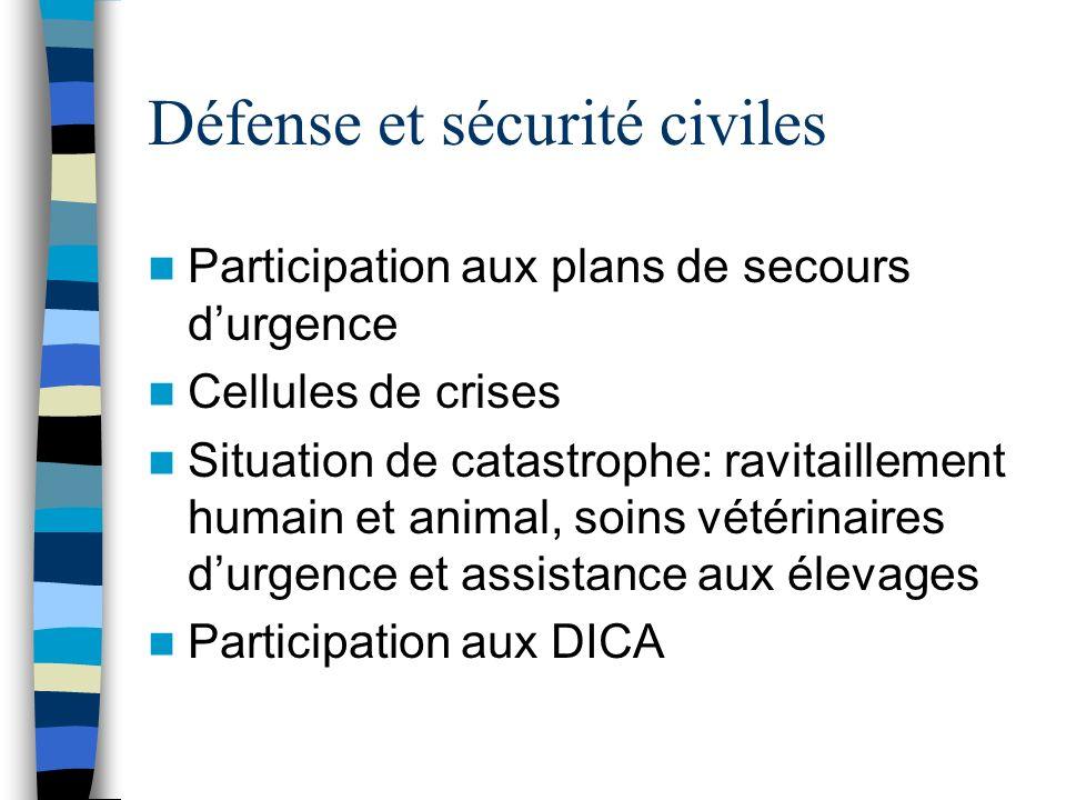Défense et sécurité civiles
