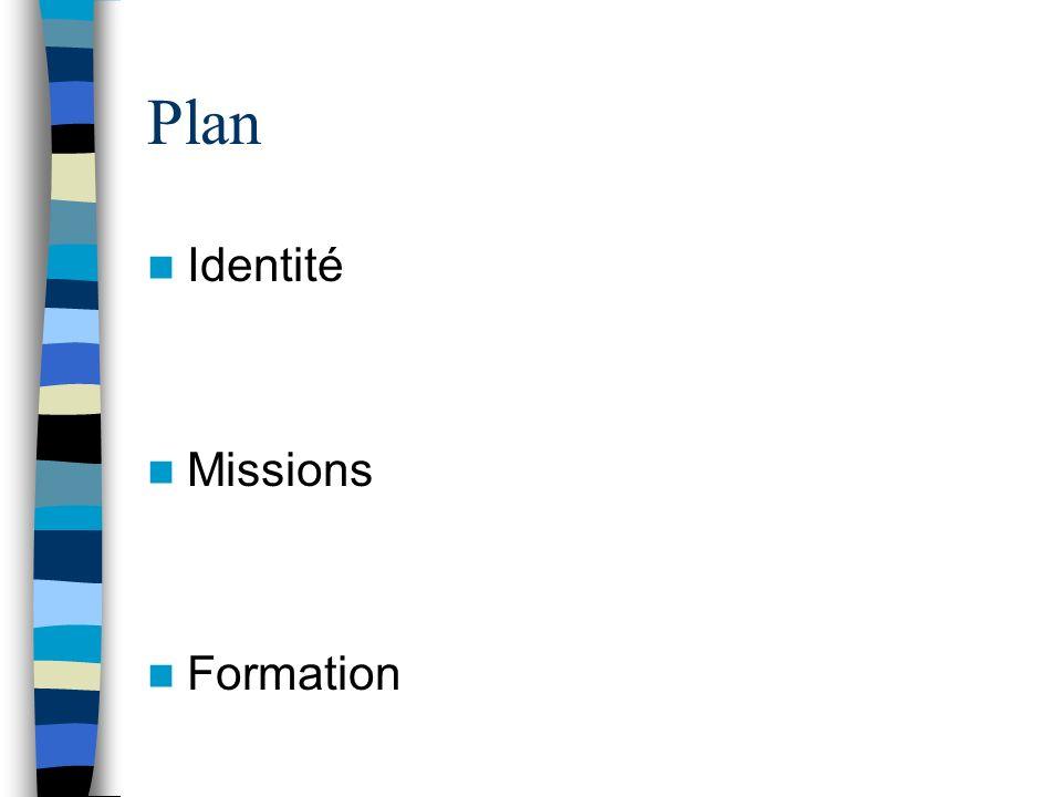Plan Identité Missions Formation