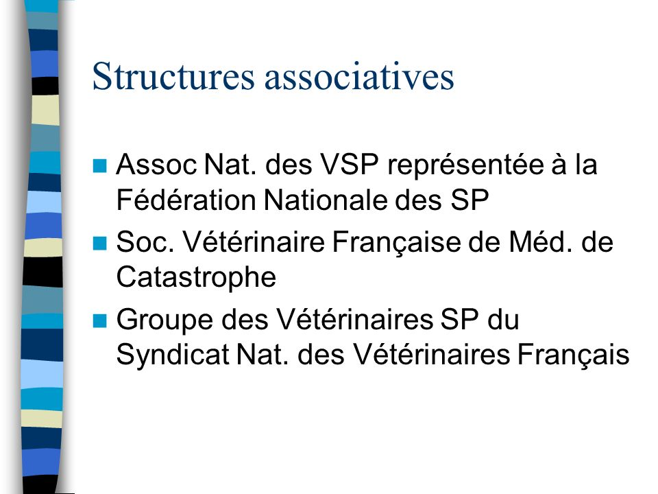 Structures associatives