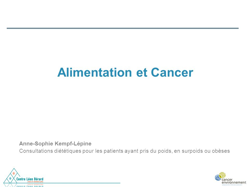Alimentation et Cancer