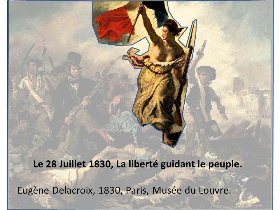 Le 28 Juillet 1830, La liberté guidant le peuple.