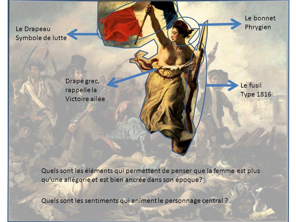 Drapé grec, rappelle la Victoire ailée Le fusil Type 1816